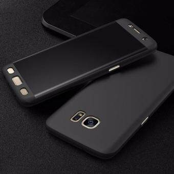Harga 360 Degree Full Body Protection Cover Case With Tempered Glass forSamsung Galaxy J5 Prime (Black)