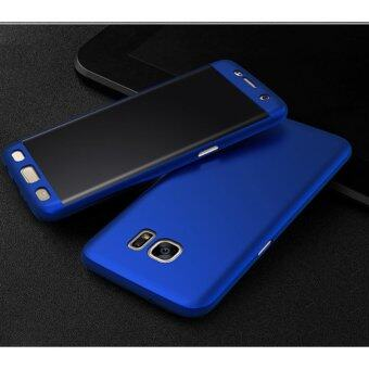 Harga 360 Degree Full Body Protection Cover Case With Tempered Glass forSamsung Galaxy J5 Prime (Blue)