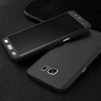 Harga 360 Degree Full Body Protection Cover Case With Tempered Glass forSamsung Galaxy J7 Prime (Black)