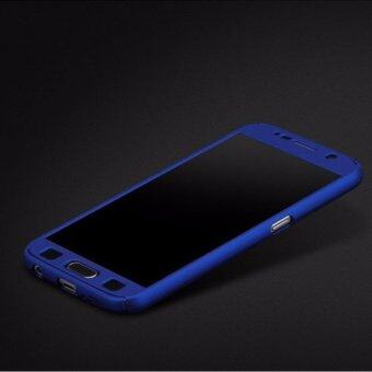 Harga 360 Degree Full Body Protection Cover Case With Tempered Glass forSamsung Galaxy Note 3 (Blue)