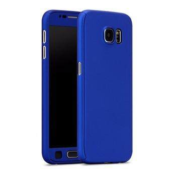 Harga 360 Degree Full Body Protection Cover Case With Tempered Glass forSamsung Galaxy Note 5 (Blue)