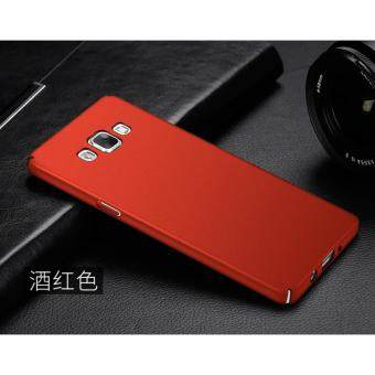 360 Degree Protective Case Ultra Thin PC Hard Case for SamsungGalaxy A7000/A7 2015(Red)