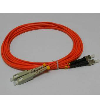 3C brand, SC-ST Duplex Fiber Patch Cord Cable, Multi Mode,62.5/125, 3meter, factory terminated