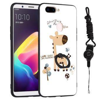 3D relief painting style protection shell wish Fashion lanyard finger ring phone case for Oppo r11s