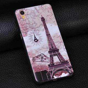 3D Relief Silica Gel Soft Phone Case for OPPO A37/A37M with a Rope (