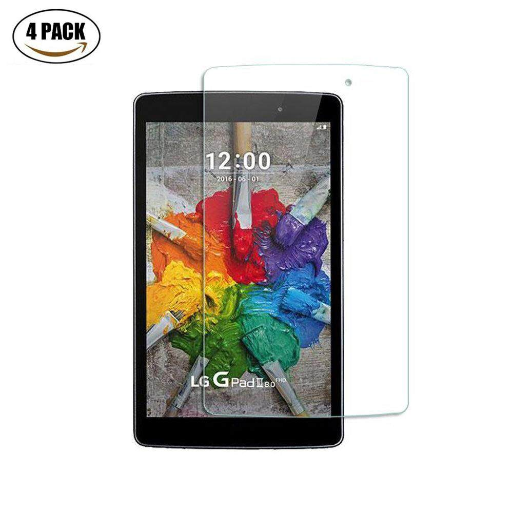 [4 PACK] LG G Pad 3 8.0 Screen Protector, Miimall [Scratch Terminator] HD Clear 9H Hardness 0.33mm Ballistic Glass Tempered Glass Screen Protector Film For LG G Pad III 8.0 Inch Tablet - intl