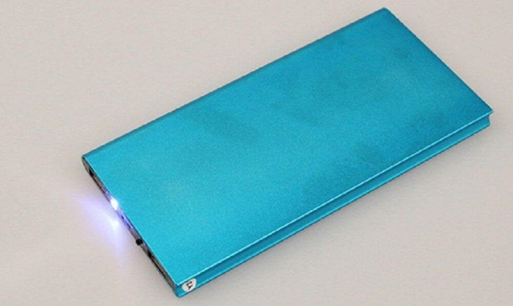 42,000 mAh Super Thin Powerbank with Backlight- FREE SHIPPING - LOWEST IN TOWN (Blue)