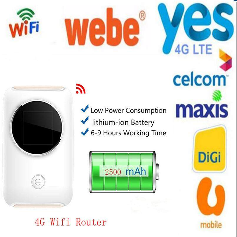 4G Wifi Router 150Mbps Mini Mobile Hotspot Portable Modem for Celcom,Digi,Maxis,Yes 4G,Webe,hostpot - intl