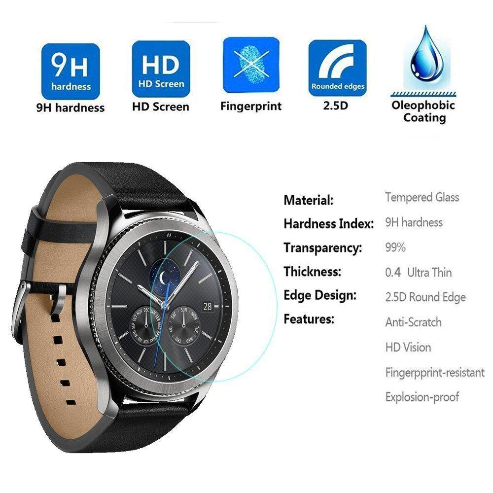 4PCS 2.5D Tempered Glass Film Screen Protector for Gear S3 Classic SM-R770 S3