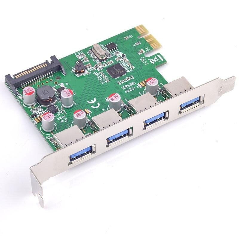 4x USB 3.0 PCI-e Card Solid capacitor Self restoring fuse Renesas (NEC) Chip - intl