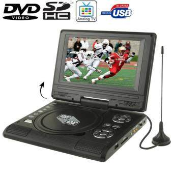 Harga 7.5 inch TFT LCD Screen Portable DVD with TV Player, Support SD /MMC Card / Game Function / USB Port