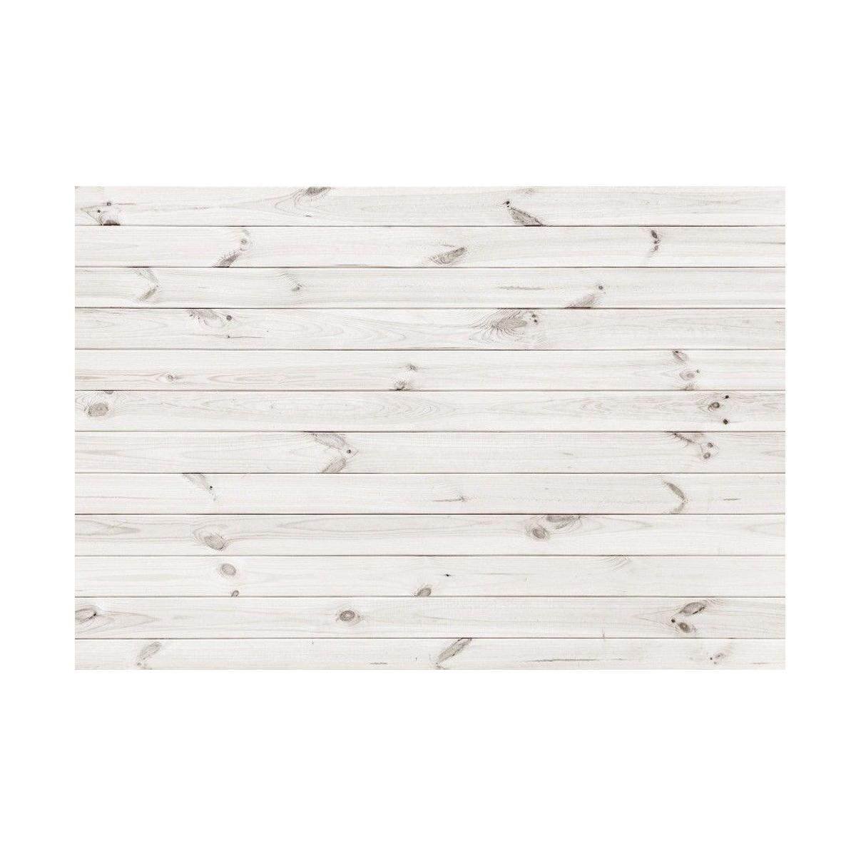 7x5ft Background Vinyl Photo Backdrop Studio Props White Wood Board Plank Theme - intl
