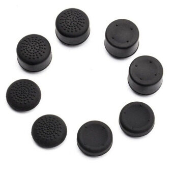 Harga 8Pcs Thumbstick Cap Rised Thumb Grip for Sony Playstation 4 PS4Controller Black