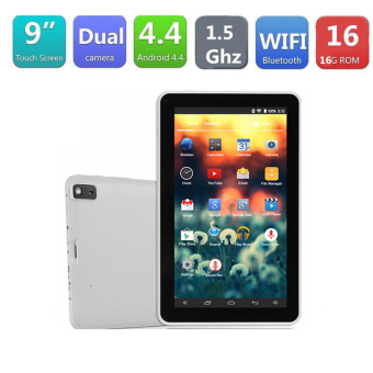 Harga 9' inch Google Android4.4 Quad Core 16GB Dual Camera Wifi Tablet EUPC Blue