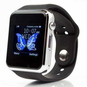 A1 Gelang Pintar Bluetooth Kartu SIM SD Watch untuk Android/IOS (Hitam)