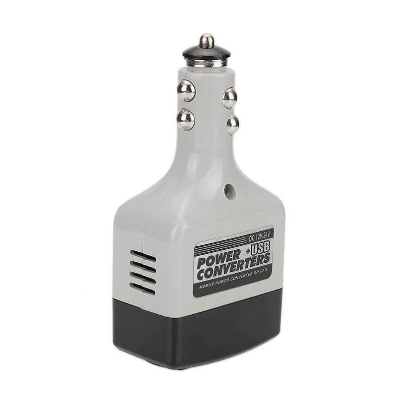 ... ABS 10W DC12/24V AV220V Car Power Converter Adapter Inverter USB Outlet Charger - intl