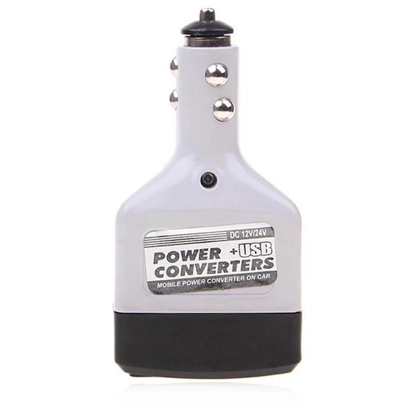 ... ABS 10W DC12/24V AV220V Car Power Converter Adapter Inverter USB Outlet Charger - intl ...