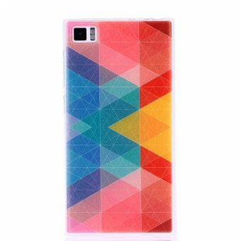 Abstract Clear Edge Soft Silicon Painting Back Cover Case For Xiaomi Mi3 Multicolor