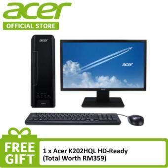 Acer Aspire XC Desktop (AXC730-4205W10) - Pentium J4205 / 4GB / 1TB / Intel® HD / W10 + FREE K202HQL Monitor