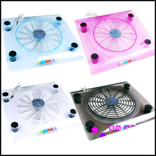 Acrylic transparent notebook radiator 13-inch 12-inch portable computer 14-inch bracket pad fan base mute Malaysia