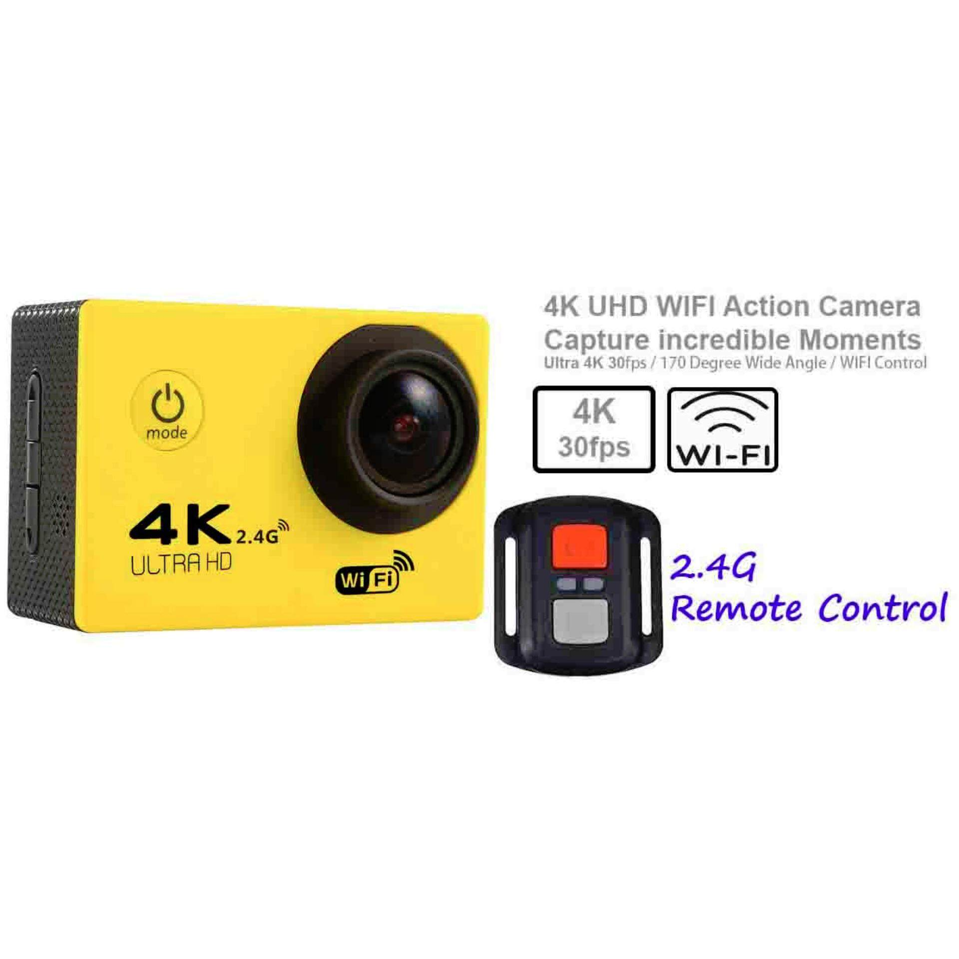 Action Camera Ultra-HD 4K 2-inch LCD Wifi Sports Cam With Remote Control