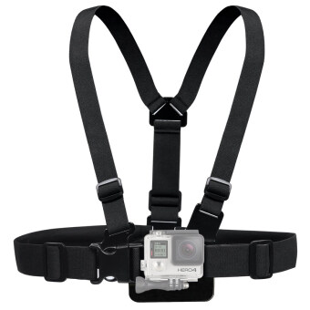 Adjustable Action Camera Chest Belt Strap Harness Mount for Gorpo,SJCAM, EKEN, Xiaomi Yi and others