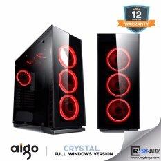 Aigo Crystal Full Window  (4 Side Tempered Glass + 5pcs Eclipse RGB Fan) [ATX, Matx, Mini-ITX] Malaysia