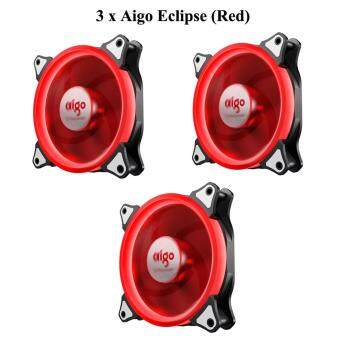 Harga Aigo Eclipse 12CM RED LED Ring Casing Fan (3 Units)