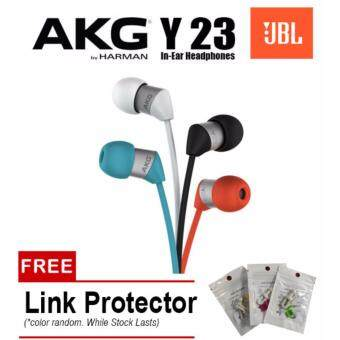 Harga AKG Y23 By JBL Harman Ultra Small In Ear Stereo Headphones WithUniversal Mic / Remote (White)