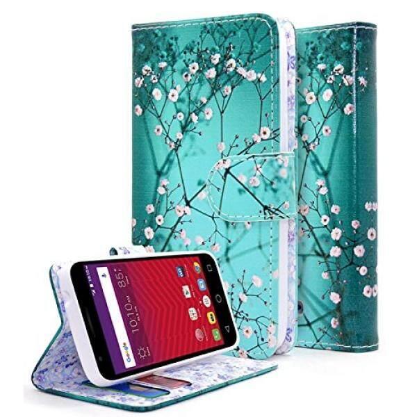 Alcatel Ideal Case, Alcatel Ideal 4G LTE / Pixi Avion 4G LTE / Pixi Bond / Dawn / Streak Case, NageBee [Kickstand Feature] Premium PU Leather Flip Fold Wallet Case with [ID&Credit Card Slot] (Plum) - intl