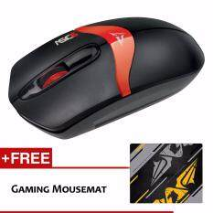 Alcatroz Asic 6 High Resolution Optical Mouse Free Mousemat (Black Red) Malaysia