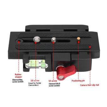 Hot Deals Allwin Aluminium Paduan Hitam Cepat Melepaskan Piring For Tumpuan Kaki Tiga Kepala DSLR Kamera