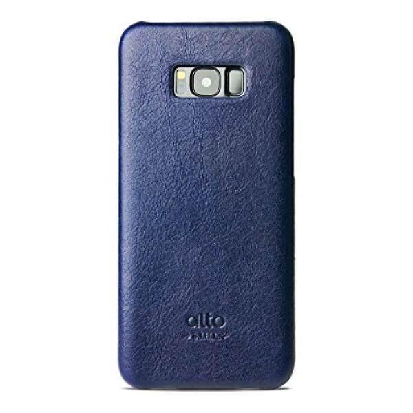 Alto Buatan Tangan Premium Kulit Italia Case untuk Samsung Galaksi S8 + Asli (Angkatan Laut)-Internasional