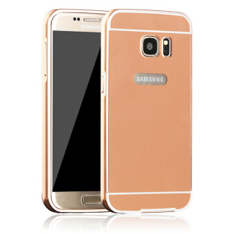 Aluminium Metal Mirror Bumper Case Cover For Samsung Galaxy A5 2016 Rose Gold