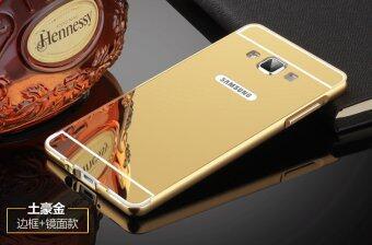 Aluminum Mirror Metal Bumper Case Cover For Samsung Galaxy A3 Gold