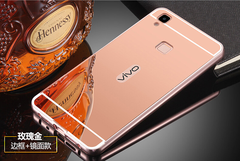 Aluminum Mirror Metal Bumper Case Cover for Vivo V3 Rose Gold Lazada Malaysia .