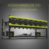 Aluminum Veddha 8GPU Open Air Mining Rig Frame Case Stackable For ETH ZEC