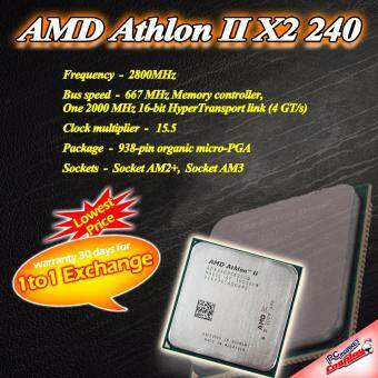 AMD Athlon II X2 240 2core 2.8 ghz AM2+/AM3+ CPU / Processor (Refurbished)