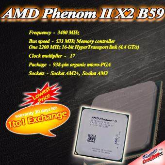 AMD Phenom II X2 B59 3.4GHz(8M Cache) AM2+ AM3 Socket (Refurbished)