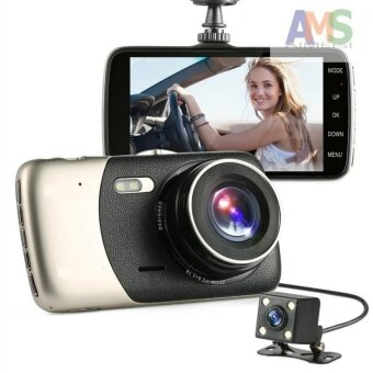 "Harga AMS 2017 New 4"" Mini Car DVR Dual Lens Video Recorder Parking CarCamera Full HD 1080P WDR Dash Cam Night Vision Auto Black Box"