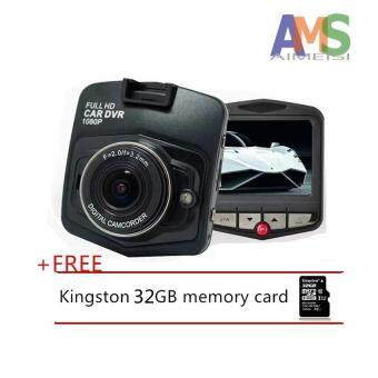 Harga AMS Mini Car DVR Camera GT300 Camcorder 1080P Full HD VideoRegistrator Parking Recorder G-sensor Dash Cam+Free 32gb memorycarde_black