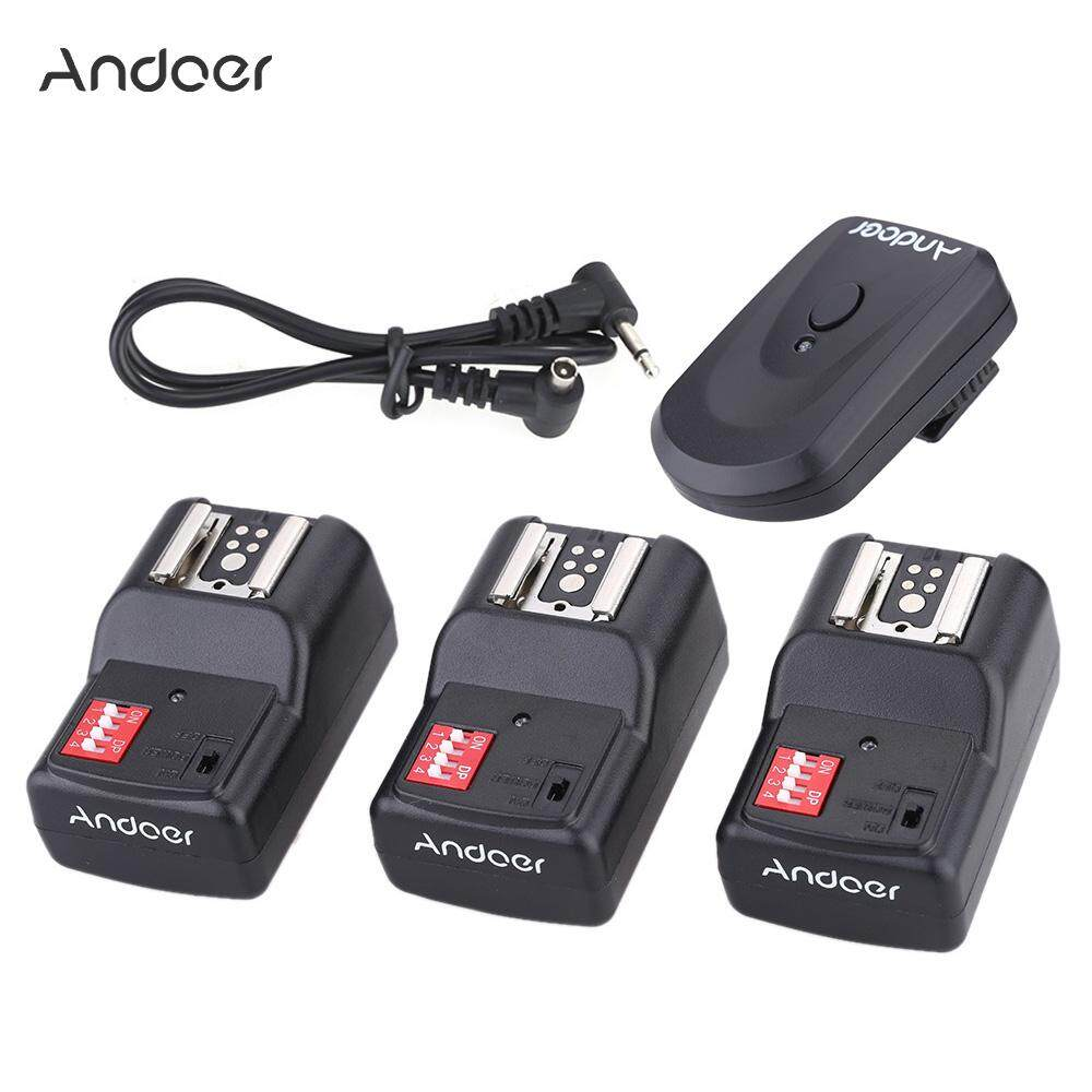 Andoer 16 Channel Wireless Remote Flash Trigger Set 1 Transmitter + 3 Receivers + 1 Sync ...