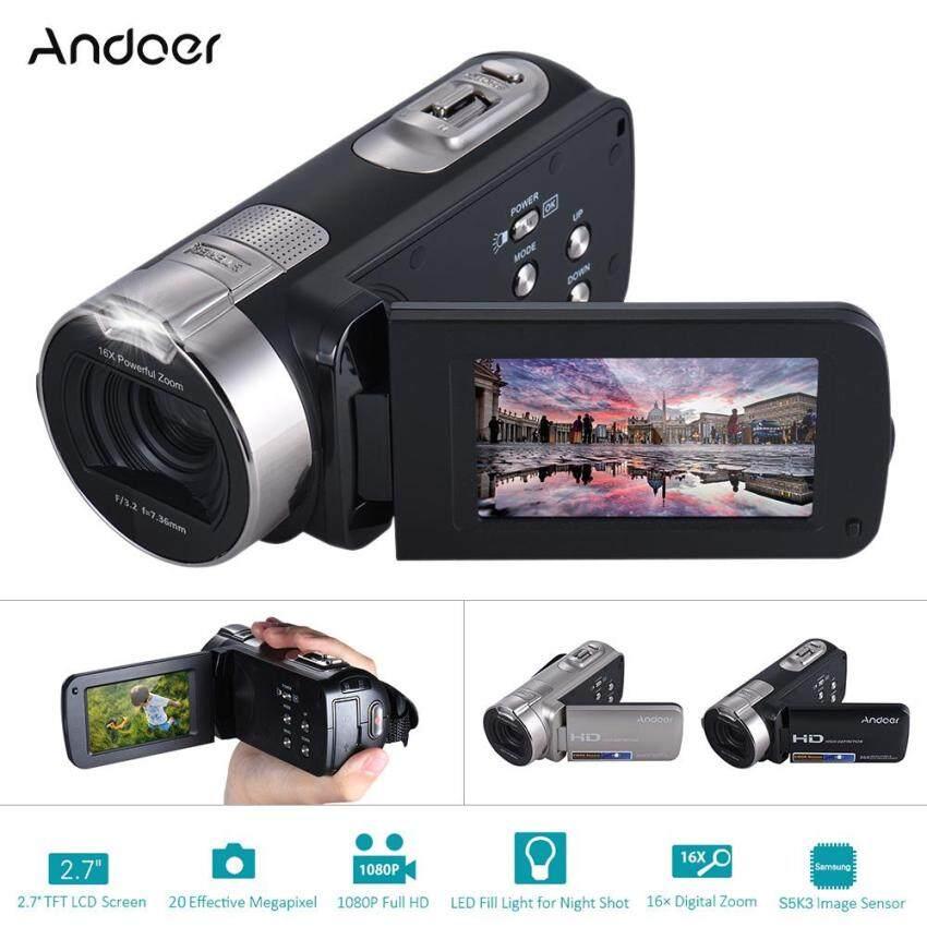 Andoer HDV-312P 1080P Full HD Digital Video Camera Portable Home-use DV with 2.7 Inch Rotating LCD Screen Max. 20 Mega Pixels 16? Digital Zoom