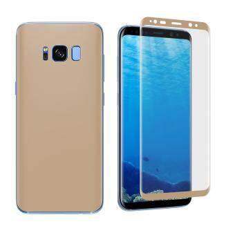 ANGIBABE Soft PET Full Cover Plated Curved Mobile Front + BackScreen Protector Film (0.1mm) for Samsung Galaxy S8 Plus G9550 -Gold - 3