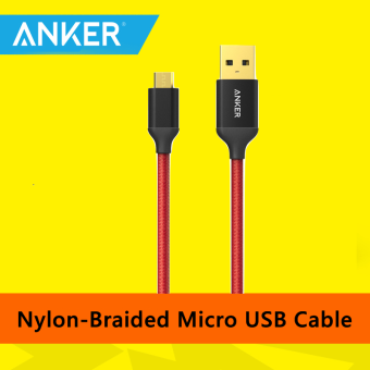 Harga Anker A7115 Nylon Micro USB Gold Plated Quick Charge USB 2.0 Cable0.9m