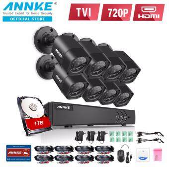 Harga ANNKE 1MP 720P 8 Bullet Cameras CCTV Included 1TB TOSHIBA HDD DVR Kits Security System - Indoor Outdoor Night Vision Desktop & App Remote Monitoring Motion Detect Alert