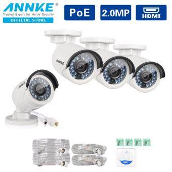 ANNKE 2MP 1080P 4 POE IP Bullet Cameras Indoor Outdoor Fixed Super Day Night Vision Security Camera