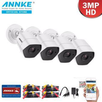 Harga ANNKE 3MP 1536P 4 Bullet Cameras high-performance CMOS IP66 Dust and Waterproof