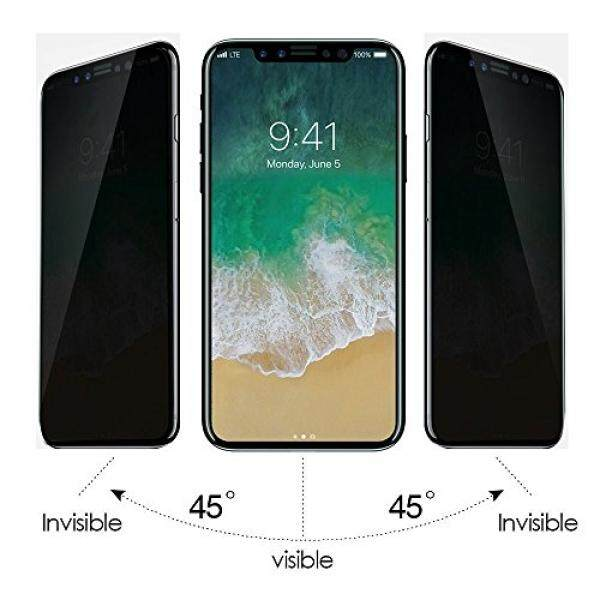 Apple iPhone X Privacy Screen Protector – Anti Finger Print, Bubble Free, 3D Touch Compatible & Scratch Resistant - High Full Coverage Frame Curve Edge Anti-Spy Cover with 2.5D Arc Edge Design - intl
