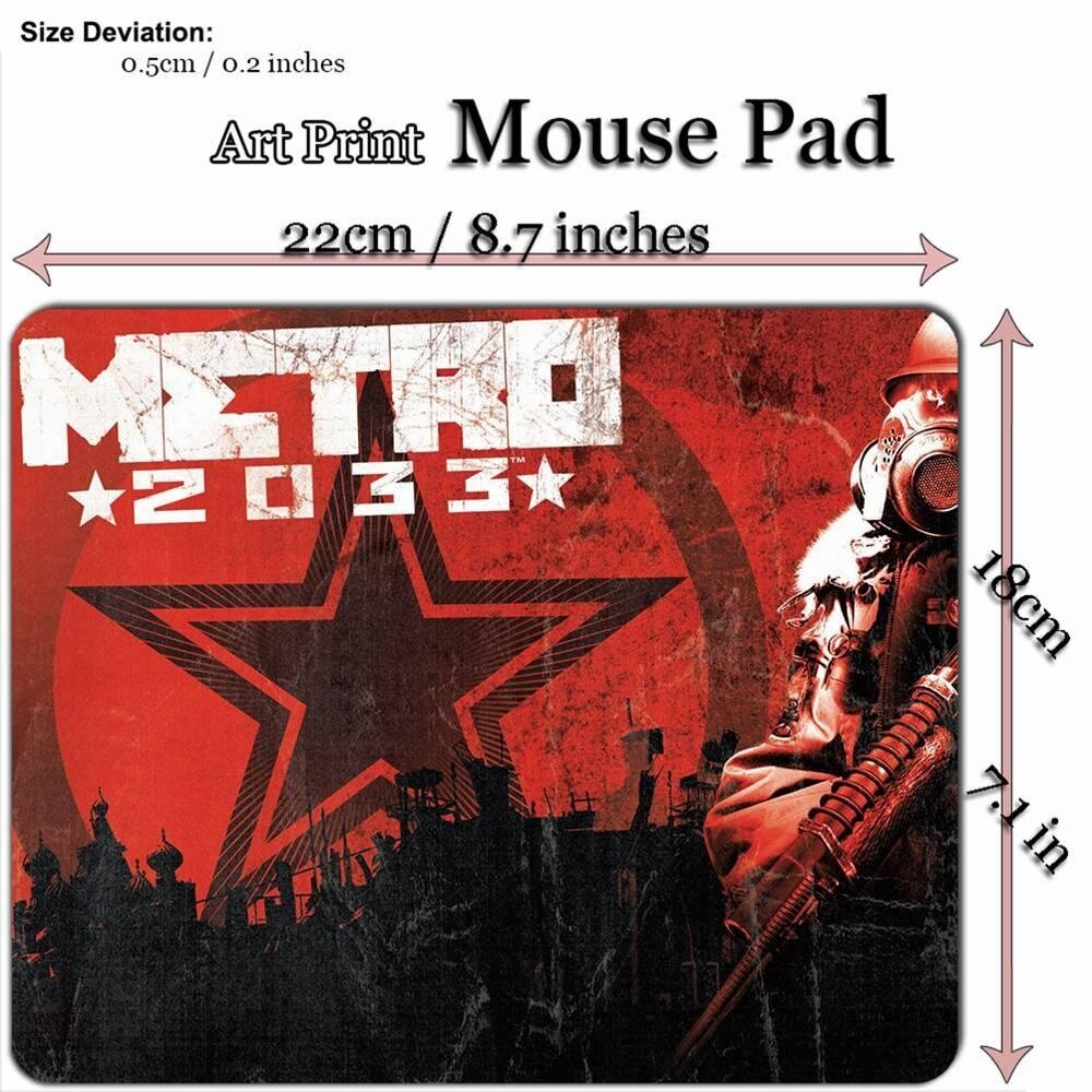 Seni Cetak Permainan Mouse Alas Alas (22*18 Cm) untuk G486 Metro 2033 Last Ringan-Internasional